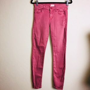 Mother rose colored skinny jeans